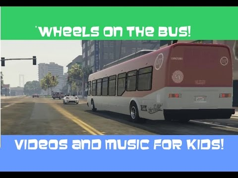 WHEELS ON THE BUS buses cars trucks nursery rhymes for kids and toddlers!