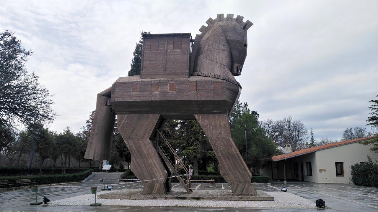 Trojan Horse Troy Tevfikiye çanakkale Province Troad Turkey Asia