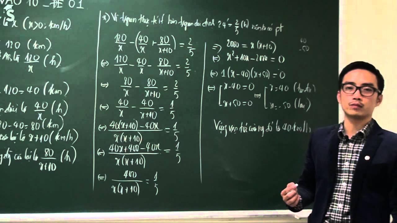 Đề thi thử lớp 10 môn toán 2019 – 2020 có lời giải chi tiết  – Thầy Nguyễn Cao Cường