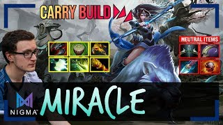 Miracle - Mirana Safelane | CARRY BUILD | with GH (Tusk) | Dota 2 Pro MMR Gameplay #9