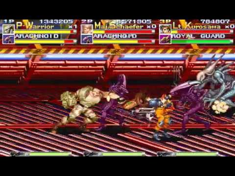 Alien vs. Predator arcade 3 player Netplay 60fps