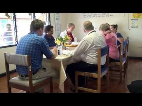Senators' visit to Tafea Counselling Centre