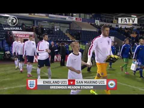 England U21s vs San Marino 9-0, Euro qualifier