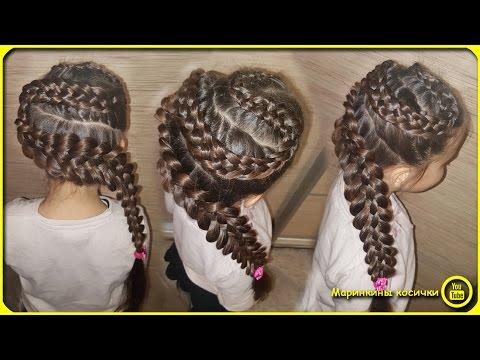 пятипрядная коса видео