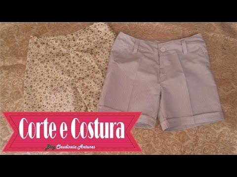 Como Fazer um Shorts Aula de Corte e Costura - Costure em Casa  Short Social de forma Profissional