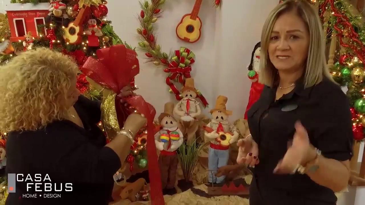 tela adornos festivos de a/ño nuevo 5x4 cm arcos decorativos de Navidad HOWAF 24 piezas de lazo de Navidad con campanas lazos guirnaldas de Navidad dorado verde rojo arcos de /árbol de Navidad