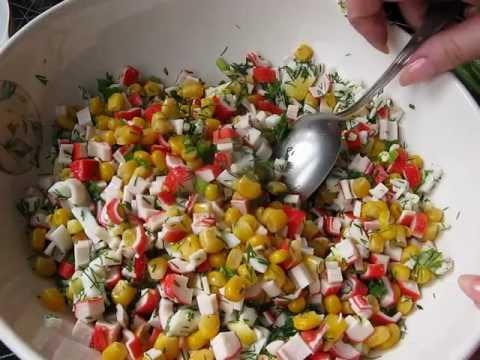 Салат крабовый Самый обычный - кулинарный рецепт