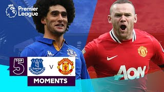 Everton vs Manchester United | Top 5 Premier League Moments | Fellaini, Rooney, Ronaldo