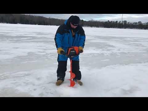 RAZR 40V Lithium Ice Auger in action!