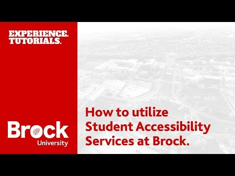 How to utilize Student Accessibility Services at Brock University