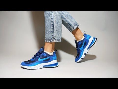 Nike Air Max 270 React Blue Void AO4971-400 on feet