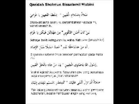 qasidah sholatun bissalamil mubin cinta masjid