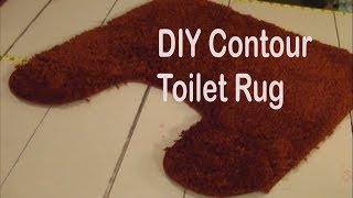 DIY Contour Toilet Rug