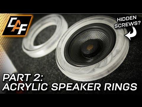 Better Speaker Rings Better Sound - Acrylic Trim Ring - CarAudioFabrication