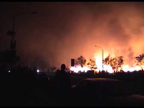 2003 Cedar Fire in Santee