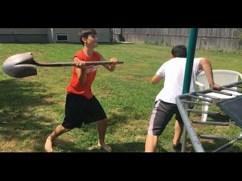 WWE Trampoline Wrestling: Cameron vs Anthony vs Brandon Extreme Rules Championship Match- 8/17/16