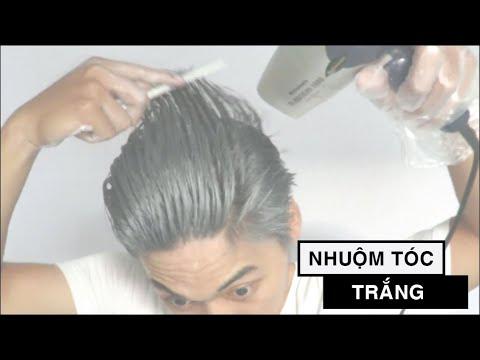 Nhuộm tóc màu trắng bạch kim với sáp vuốt tóc màu trắng bạch kim MOFAJANG Nhật Bản – Sáp màu tóc