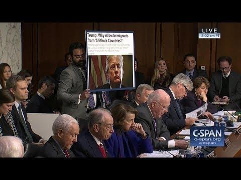 "Secretary Nielsen: ""I did not hear that word used."" (C-SPAN)"