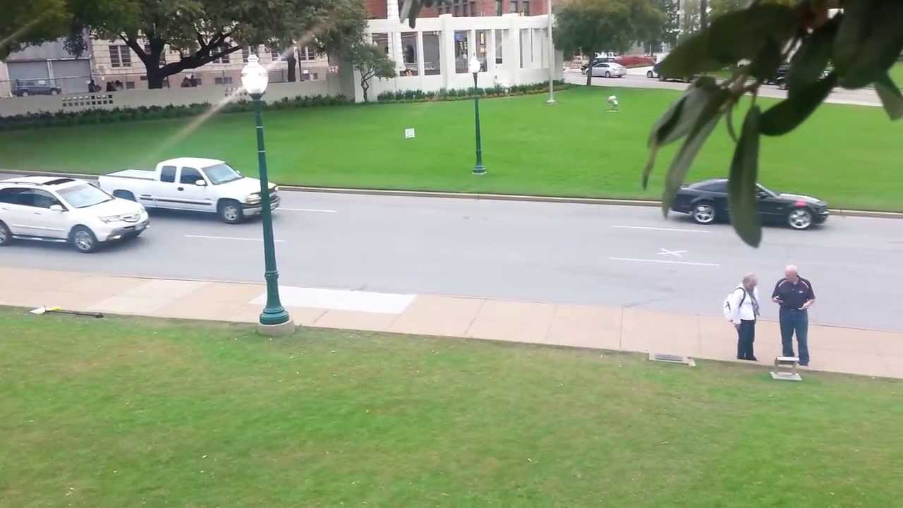 Dealey Plaza from Abraham Zapruder\'s filming position - YouTube