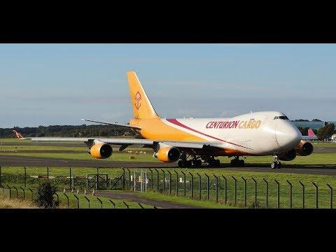 *Rare* Centurion Cargo Boeing 747-400F Takeoff at Prestwick Airport