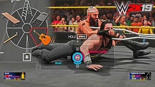 WWE 2K19: Custom Weapon Wheel w/ Guitar and Crutch ft. Tommaso Ciampa (PC Mods)