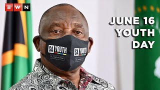 President Cyril Ramaphosa delivered the keynote address commemorating Youth Day.  #June16 #YouthDay #Ramaphosa
