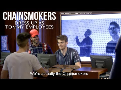 Chainsmokers Undercover at Tommy Hilfiger Store | KRISPYSHOR