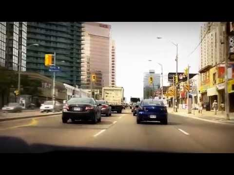 Driving on Yonge Street in North York, Toronto