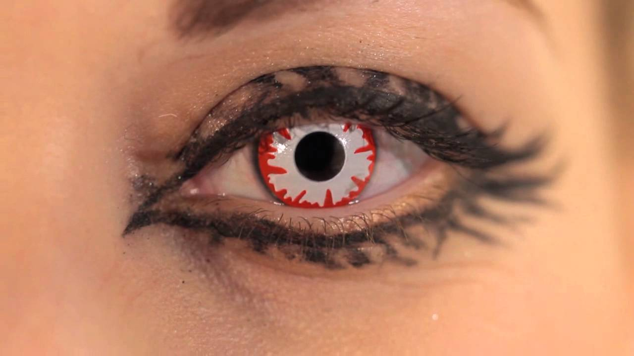 White Demon Coloured Contact Lenses - YouTube