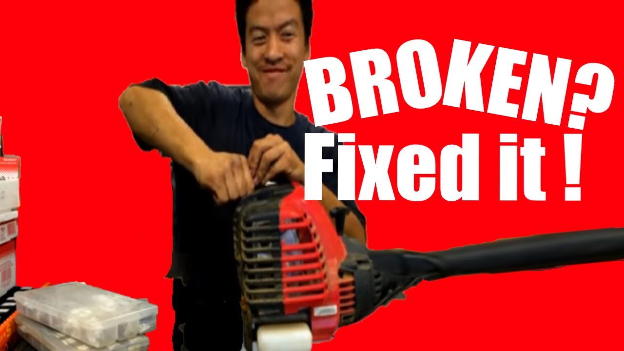 hight resolution of troy built 4 cycle trimmer repair tutorial full uncut