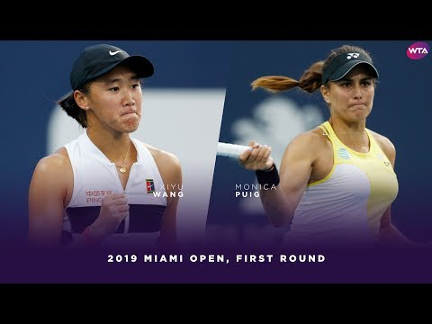 Wang Xiyu vs. Monica Puig | 2019 Miami Open First Round | WTA Highlights