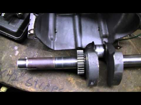 Cleaned Tecumseh Engine Block, cleaning a crankshaft with acid