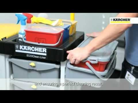Kärcher ECO Cleaning and ECO Manager Demonstration of easy office and hotel cleaning
