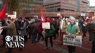Counter-protesters, protesters spar at conservative rally in Philadelphia