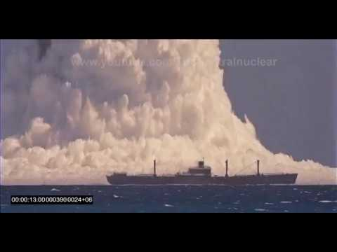 Operation Hardtack Umbrella underwater nuclear explosion 1958