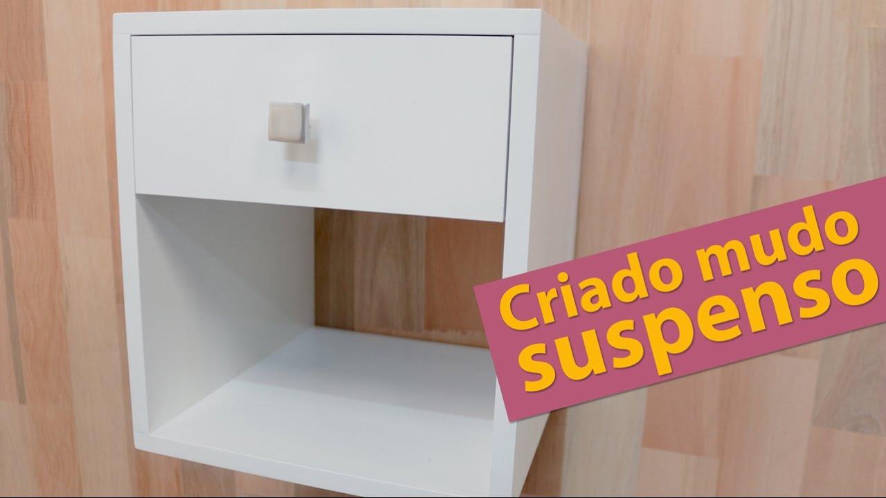 Armario Para Ropa Blanca Ikea ~ DIY CRIADO MUDO COM GAVETA DECORA u00c7ÃO QUARTO DE CASAL PEQUENO PARTE 6 YouTube