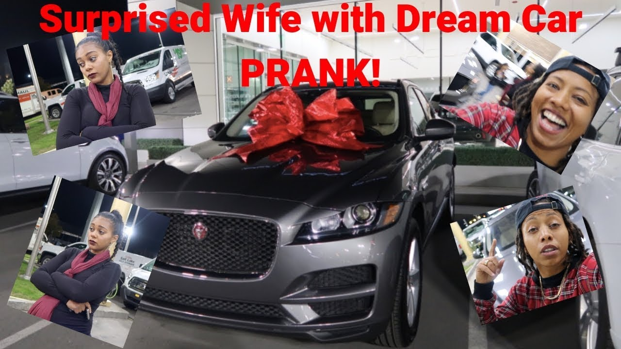 surprised wife with dream car prank must watch until the