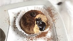 GELATO SEMIFREDDO TARTUFO  AL CAFFE' AFFOGATO AL CIOCCOLATO, senza colla di pesce e uova