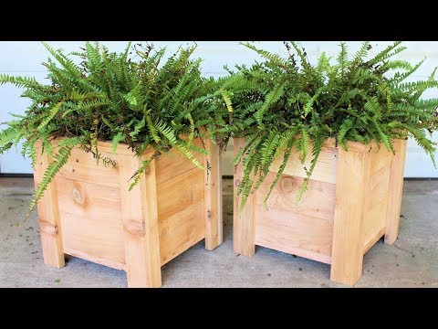Cedar Garden Planter Box : Modern DIY