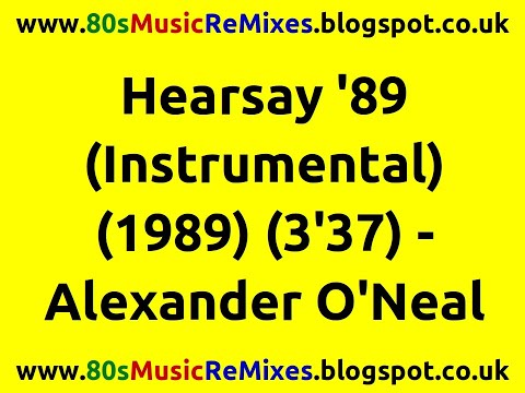 Hearsay '89 (Instrumental) - Alexander O'Neal | 80s Music Instrumental | 80s R&B Music Hits