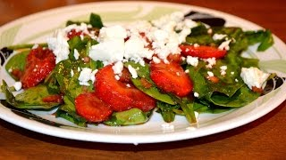 Recipe For Low Carb Strawberry Spinach Salad With Feta Cheese