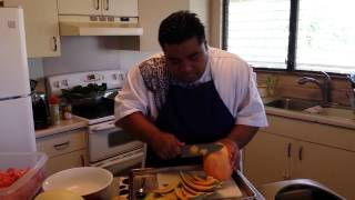 How To Cut A Cantaloupe?! W/ Chef Prez