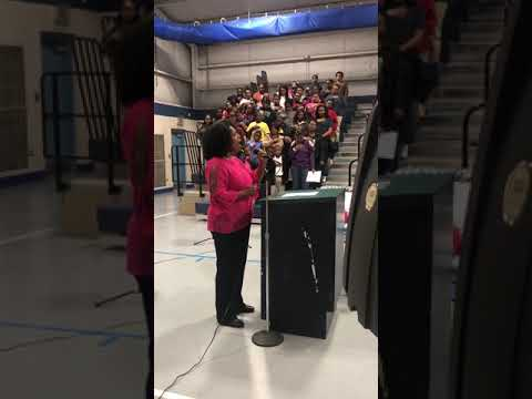 Star Spangled Banner - West Lowndes Elementary School (Columbus, MS) -Veteran's Day Program 11-9-18