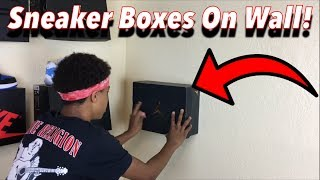 How To: Put Your Shoe Boxes On Your Wall!