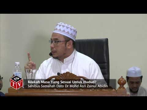 Bilakah Masa Yang Sesuai Untuk Hudud? - Dato Dr MAZA