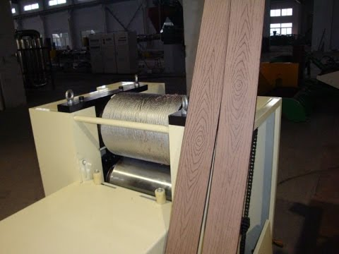 Wood Plastic Composite Wpc Embossing Machine Wpc Profile Embossing