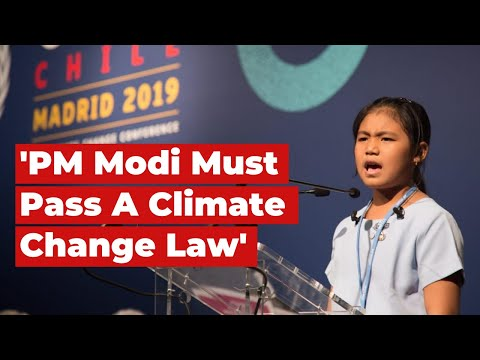 Eight-Year-Old Climate Activist Wants PM Modi To Pass A Climate Change Law | COP25 | The Wire