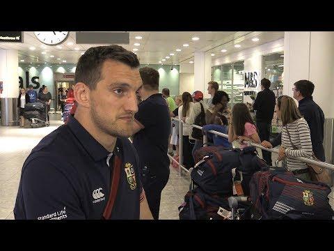 Sam Warburton Arrives Home After Lions Tour