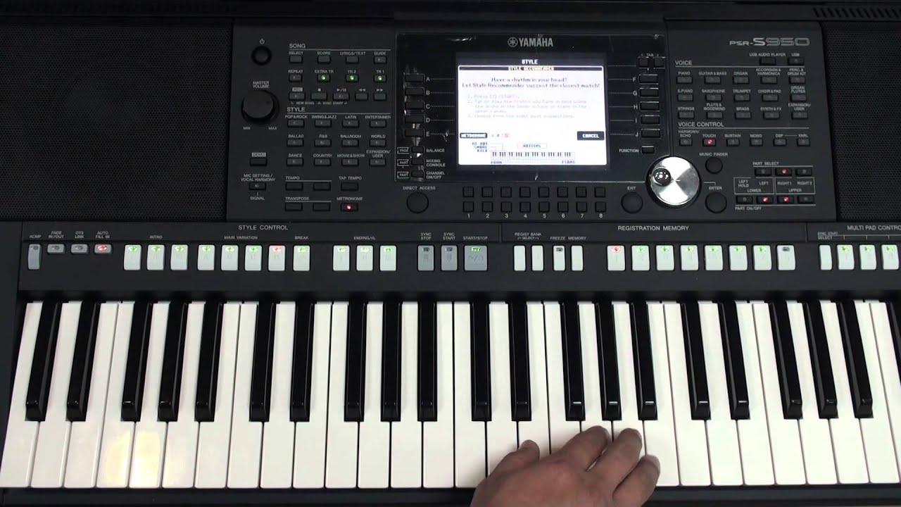 YAMAHA PSR-S950(功能教學試看帶) - YouTube