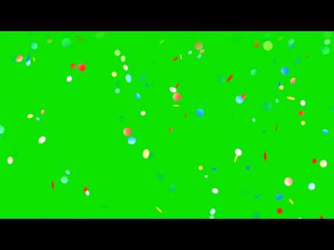 FALLING CONFETTI GREEN SCREEN EFFECT thumbnail